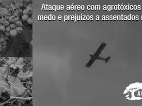 Novo ataque aéreo com agrotóxicos leva medo e prejuízos a assentados no RS