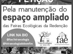 Apoie as Feiras Ecológicas da Redenção