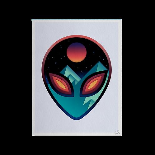 Alienscape Print by David Peyote