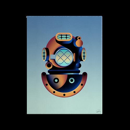 Scuba Diver Print by David Peyote