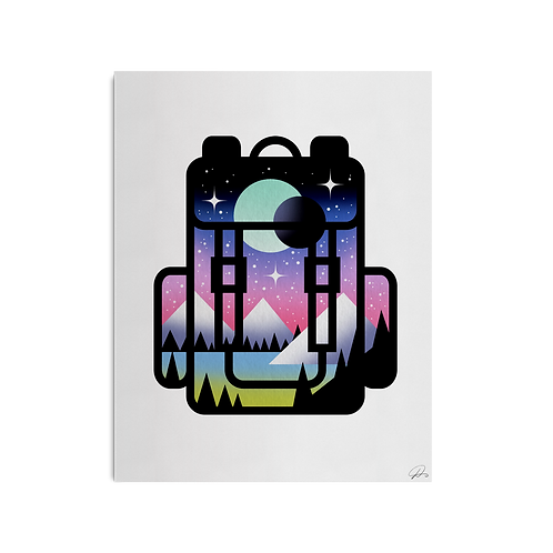 Backpack Print by David Peyote