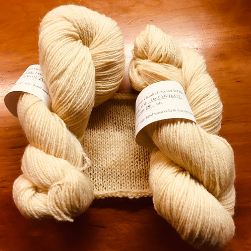 DSF Crossbreed x Border Leicester Natural White 2-ply DK