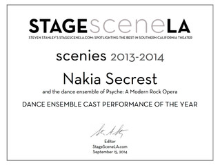 Scenie Award! Best Dance Ensemble Performance of the year!!
