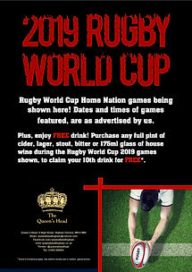 2019 Rugby World Cup - Queens- Facebook