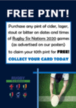 2020 Rugby Six Nations Loyalty Poster -