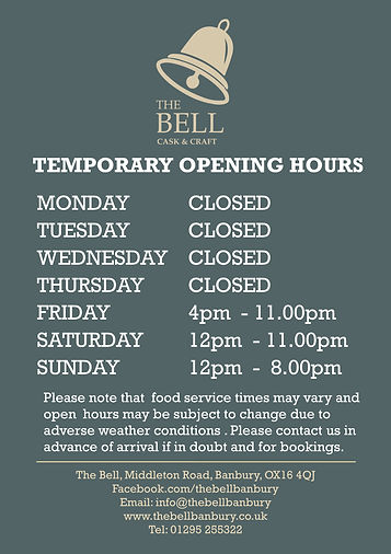 2021.03- Temporary Bell- A1 Open Hours P