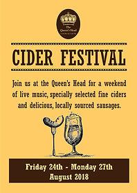 2018.07 Cider Festival Poster - Queens V