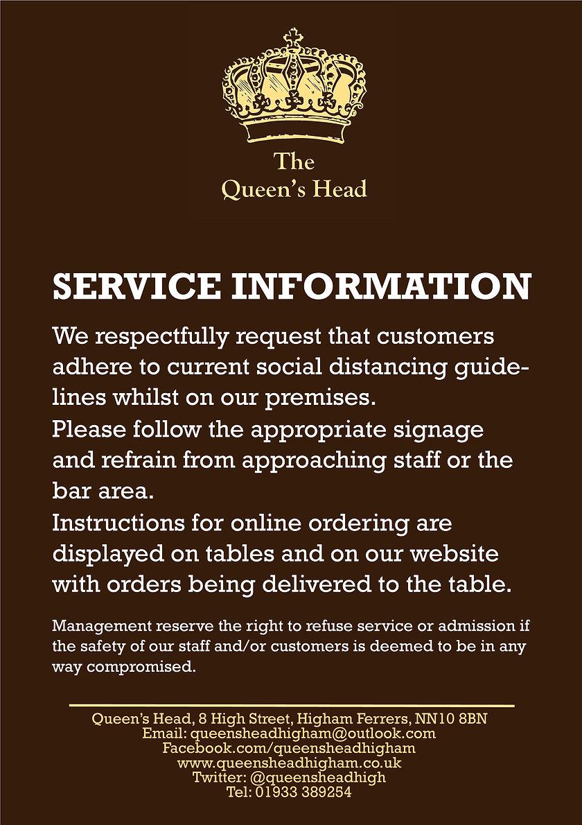 2020.05 Queens - Service Notice Poster -