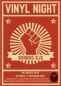 Queen's Head Shindig DJs poster - high r