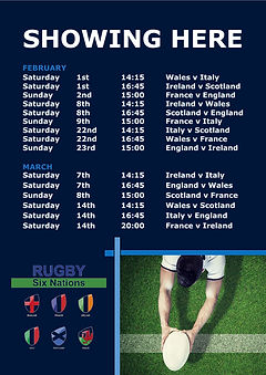 2020.01 Rugby Six Nations Fixtures Poste