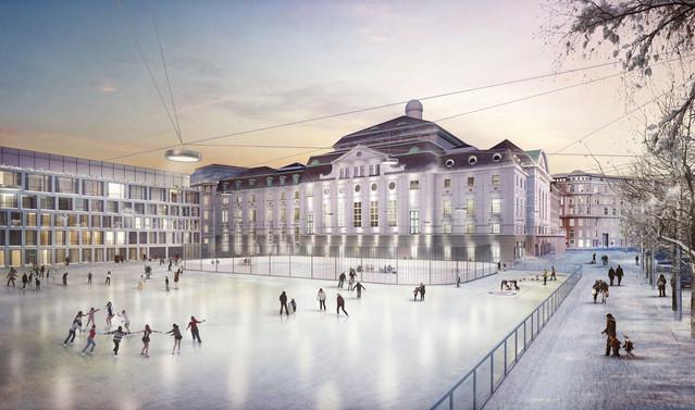 View towards the Konzerthaus