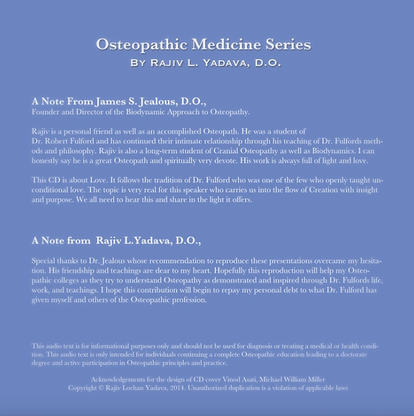 Osteopathic Medicine Series, by Rajiv L Yadava, DO