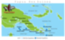 Map of Papua New Guinea Fishing Destinations