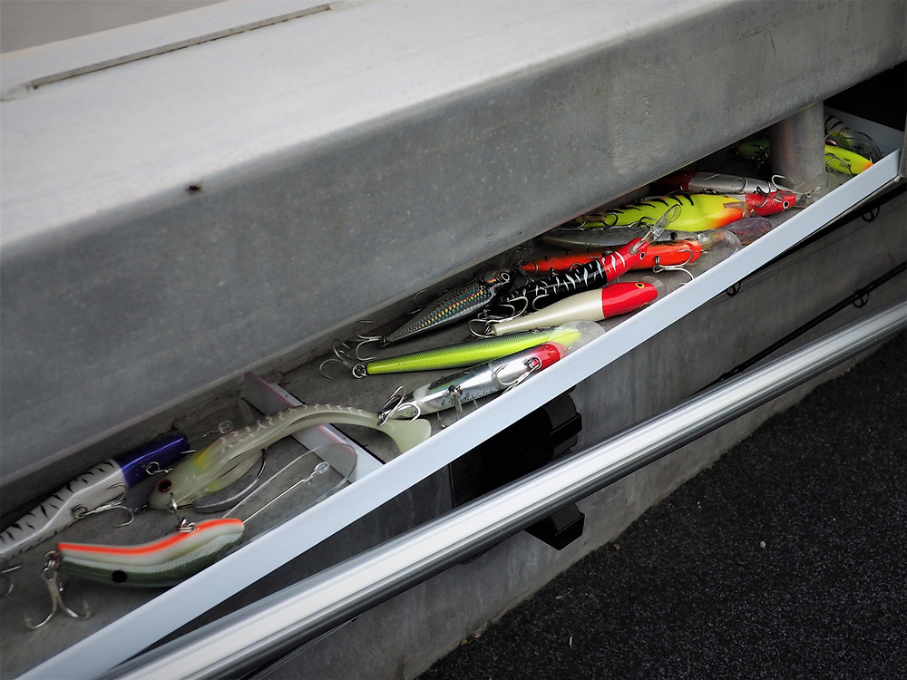 Lures rigged and ready to go