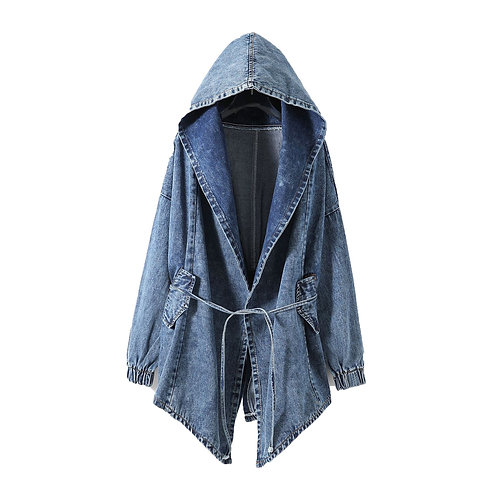 Girl's Denim Jackets Over sized Hoodie