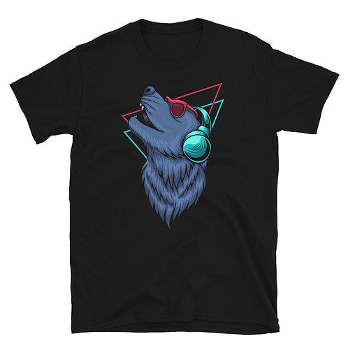 Retro Dj Dog Unisex T-Shirt