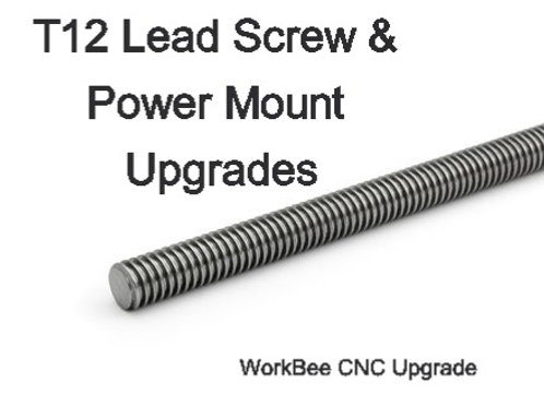 T12 (TR12 Trapezoidal) 1100mm lead screw upgrade