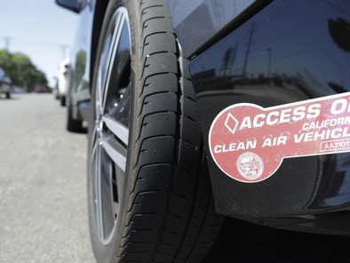 Anger in California's carpool lanes as more than 200,000 drivers are set to lose decals