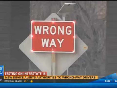 New device alerts authorities to wrong-way drivers