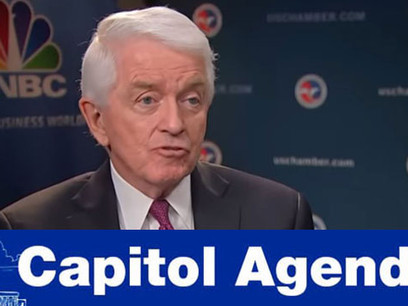 US Chamber Leader Tom Donohue Hopeful About Infrastructure Bill's Passage