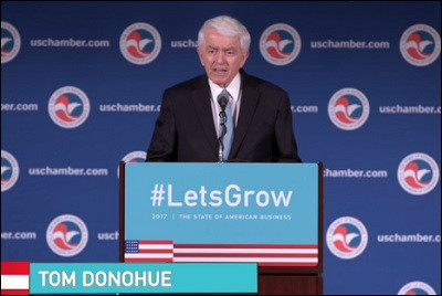 US Chamber's Donohue Urges 'Large-Scale Projects,' Sustainable Federal Funding