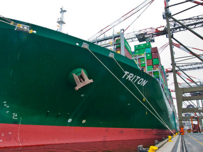 Gigantic Greek Container Ship is Largest Vessel to Pass Through Panama Canal