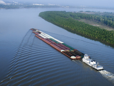 50-Foot Dredging for Lower Mississippi River: Navigation Channel Depth to Be Increased by Three to F