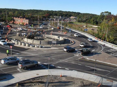 Thousands fewer cars navigate Apponaug following roundabouts