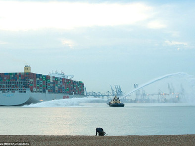 ULTRA Wide Load! World's LARGEST container ship that weighs 210,890 tonnes and spans FOUR footba