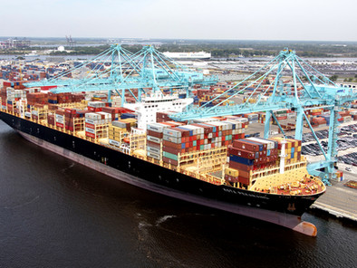 The Kota Pekarang sets a new record for the largest container ship to visit Jacksonville.