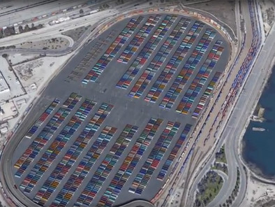 LA port plans container staging hub