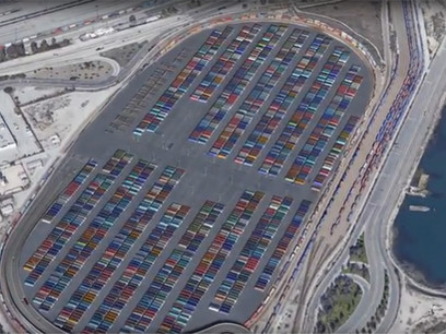 LA port plans container staging hub