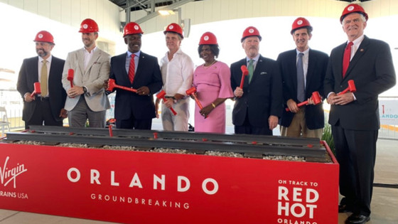 Ground broken on Virgin Trains USA's expansion linking Miami to Orlando.