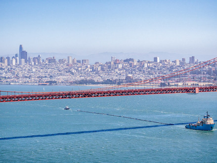 First Ocean Plastics Cleanup System Launched from San Francisco