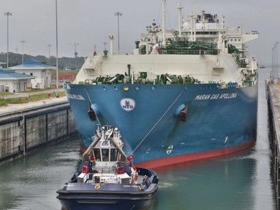 Picture of the day: first LNG tanker passing through expanded Panama Canal