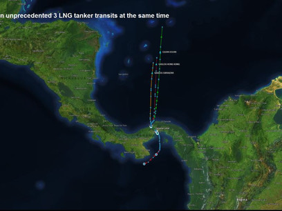 A First for Panama Canal: Three LNG Tankers Crossed in a Day