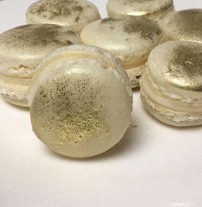 Gold Dusted Macarons