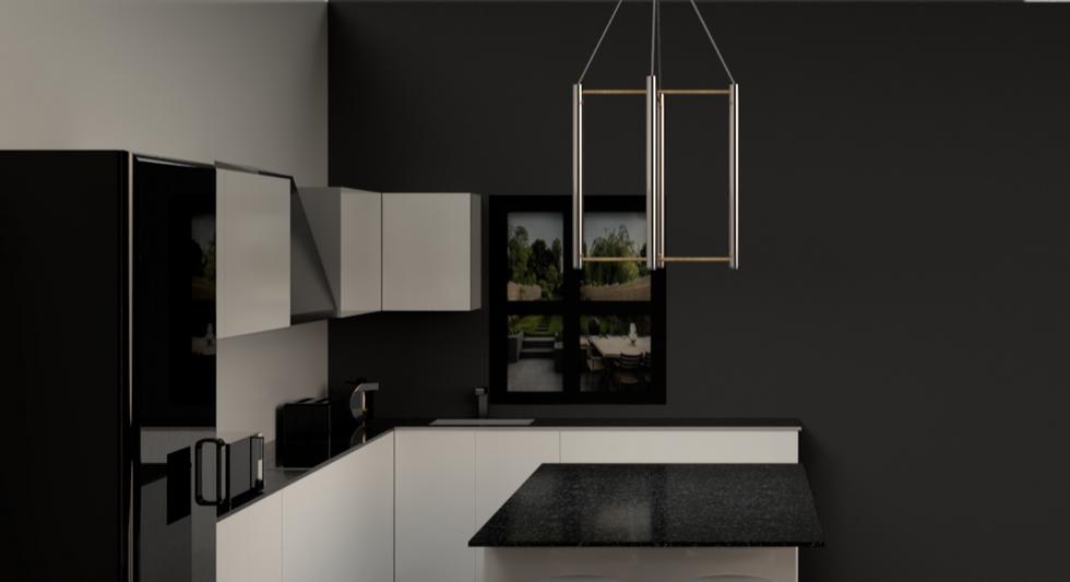 Pendant light within kitchen environment