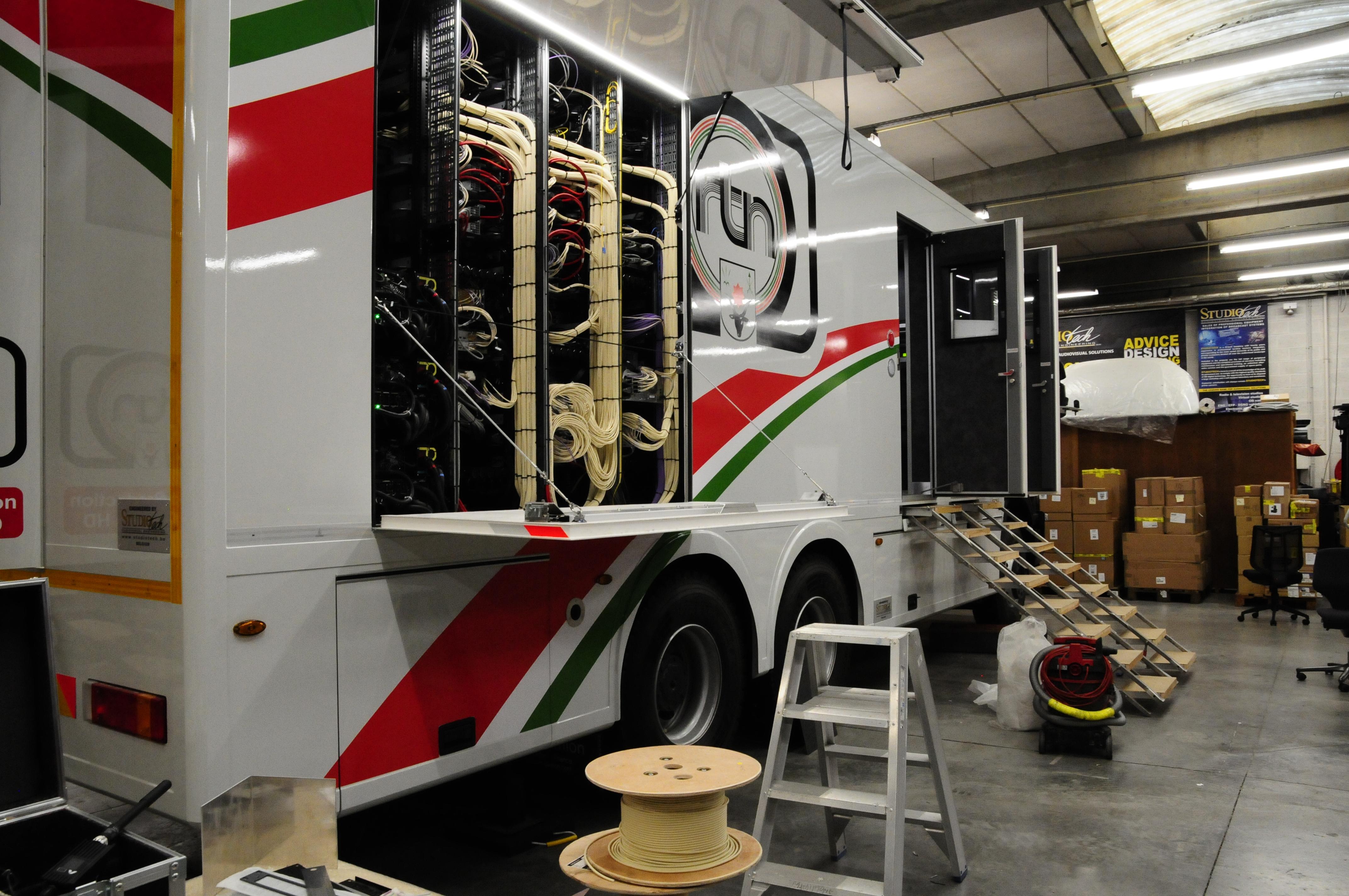 Production truck technical racks-rear