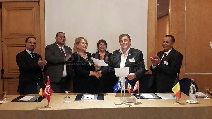 OCTOBER, 2016: CO-OPERATION AGREEMEN BETWEEN MENA MEDIA GROUP, TUNISIA AND STUDIOTECH BELGIUM