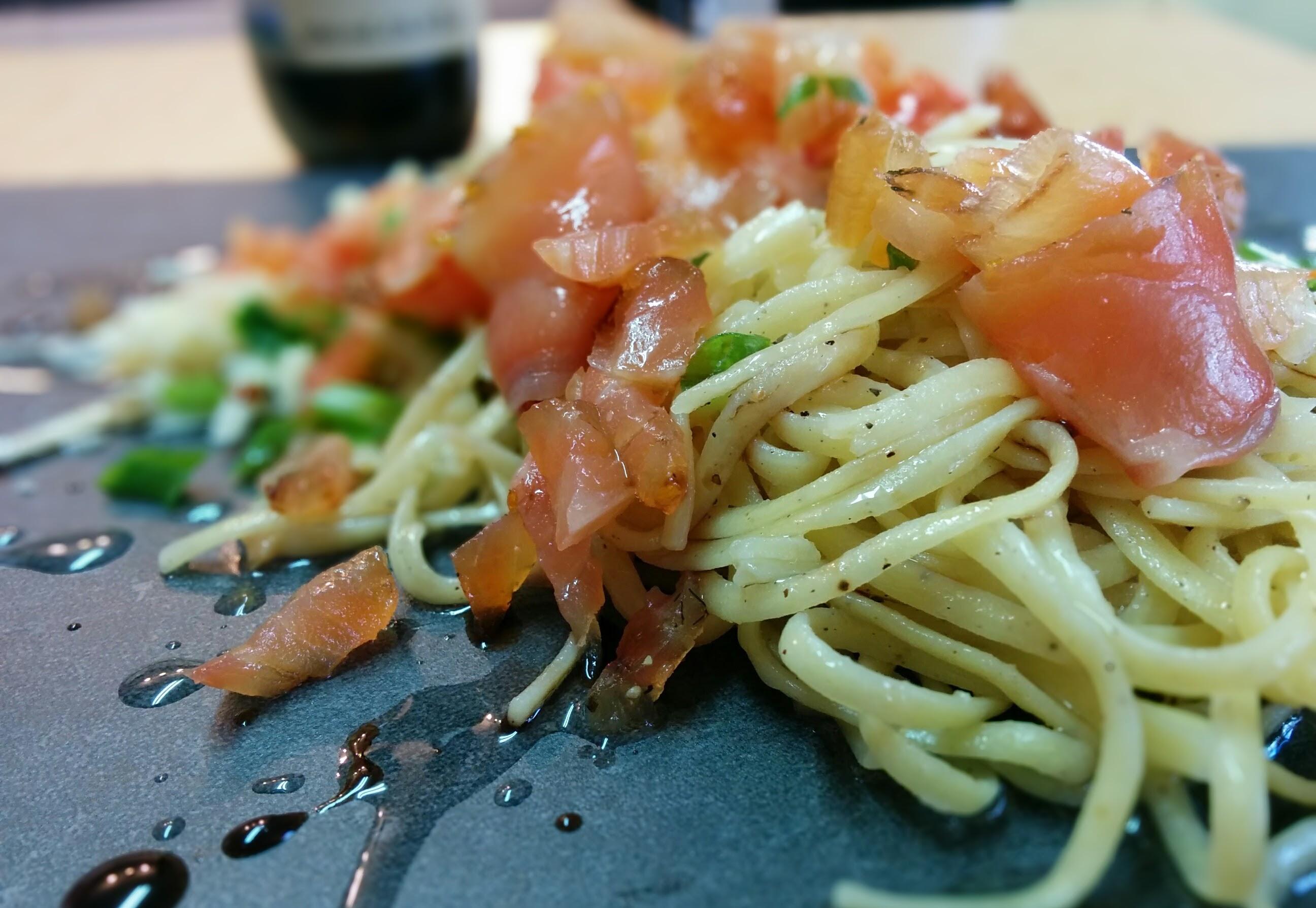 Linguini saumon fumé