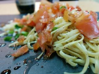 Linguines Poivre et lime avec saumon fumé et cheddar