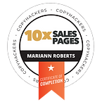 Mariann Roberts copyhackers sales pages