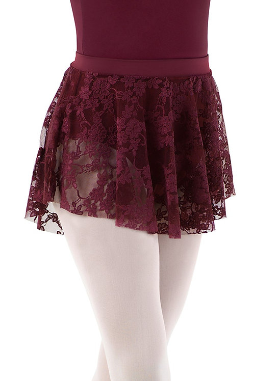 Adult DIPPED HEM LACE SKIRT