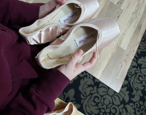 FIRST PAIR OF POINTE SHOES
