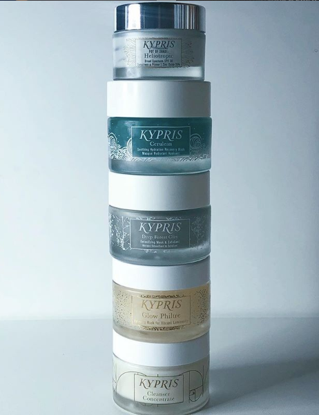 kypris, cerulean, heliotropic, cleanser concentrate, deep forest clay