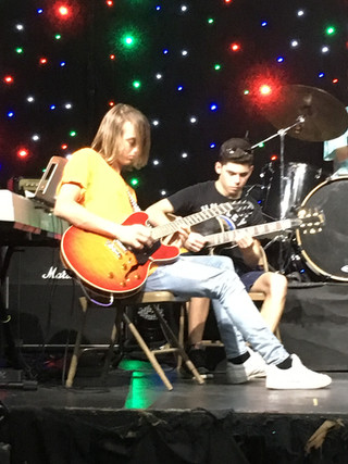 Dylan and Anthony working out some solos