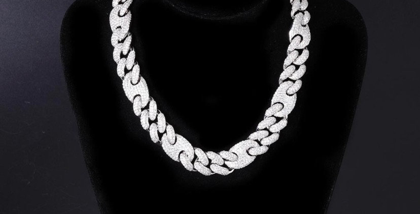 "Chaine ""20 MM CRAZY GOLD CUBAN LINK"""