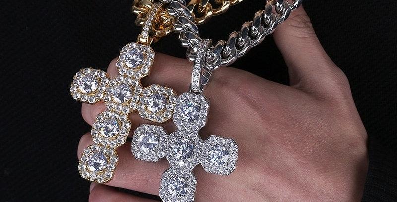 "Pendentif ""CROIX BIG DIAMOND"""