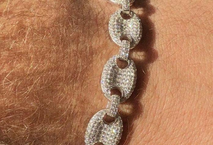 """Bracelet """"GRAINE DE CAFÉ"""" Moissanite - Argent 925"""
